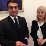 Avec le vice-ministre des affaires étrangères du Turkmenistan
