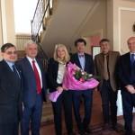Déjeuner de travail chez notre ambassadeur au Turkmenistan. Avec les ambassadeurs de Roumanie, Italie, Allemagne, UE