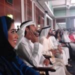 Le Cheikh Al Maktoum, le prince héritier, et Mona Al Marri, présidente du Forum