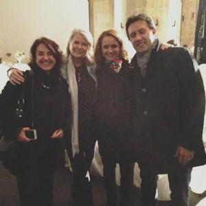 Avec la Consul honoraire Isabelle Mallez, la Conseillère consulaire Gaëlle Barre et le maire de Florence Dario Nardella