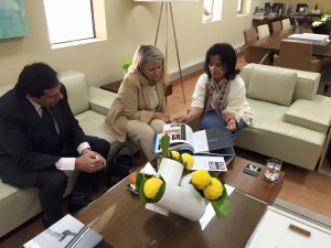 Avec Cheikha May bint Mohamed Al Khalifa
