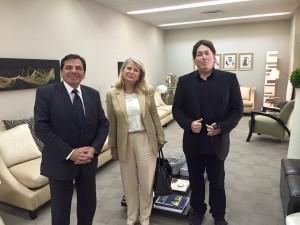 Avec l'ambassadeur Bernard Regnault-Fabre et Pascal Gueyle du Centre régional de l'Unesco