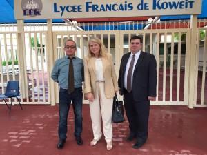 Avec le proviseur du Lycée Gérard Lahourcade et le Consul Yves Gabarre