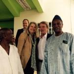 Avec Bernard Kouchner à l'hôpital Mère-Enfant