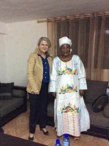 Avec la ministre des Affaires étrangeres et des Guinéens de l'extérieur, Makale Camara