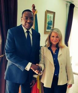 Avec le Ministre des Affaires étrangères Mankeur Ndiaye
