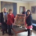 Avec le Président de la Banque nationale d'investissement Prithivi B.Pandé, sa femme Pratima (présidente de l'Alliance française) et l'Ambassadrice Martine Bassereau