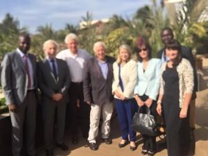 Avec le Professeur Alain Deloche, Président de La Chaîne de l'Espoir et son équipe, ainsi que les conseillers consulaires Balkis Kaouk et Gérard Senac