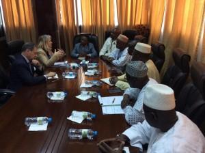 Avec le président de l'Assemblee nationale guinéenne, Claude Kory-Kondiano , son équipe de vice-présidents et le Président de la commission des affaires étrangères