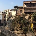 Des édifices bien endommagés par le séisme