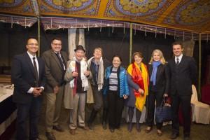 L'équipe de l'ambassade autour de Martine Bassereau (manque son No2 Arnaud Champy)