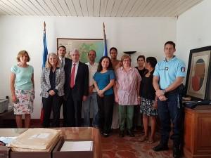 Avec l'Ambassadeur de France et son équipe