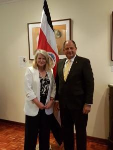 Avec le Président Luis Guillermo Solis Rivera