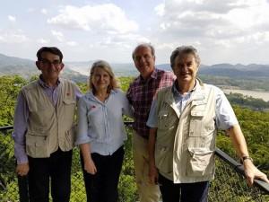 Avec Gérard Miquel, Daniel Laurent et Gérard Cornu