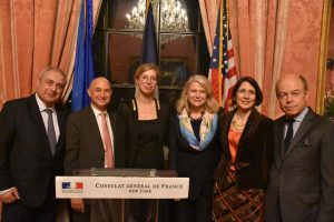De gauche à droite Patrick Pagni, Gerard Epelbaum, Anne-Claire Legendre, Roxane Sirotto et Richard Ortoli,