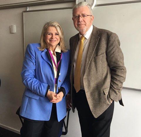 Avec Mike Russel, ministre chargé des négociations européennes sur l'Ecosse