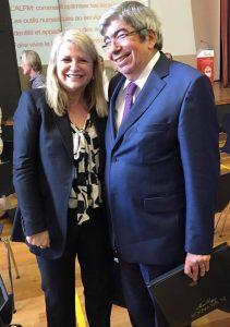 Avec le Président du Parlement Eduardo Ferro Rodrigues