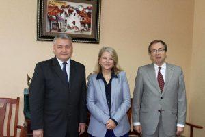 Avec le vice-ministre des affaires étrangères M. Khakimov