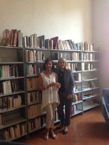 Avec Olga Poivre d'Arvor