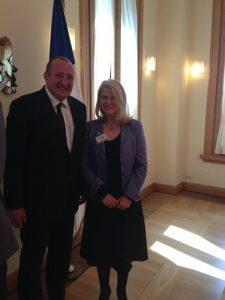 Avec le Président de Géorgie, Georgi Margvelashvili