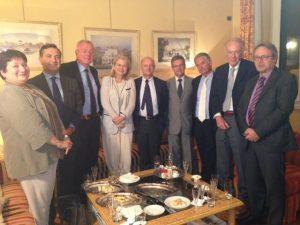 Chez le Consul général à Milan Joël Meyer avec les responsables de la Chambre de commerce et les conseillers du commerce extérieur
